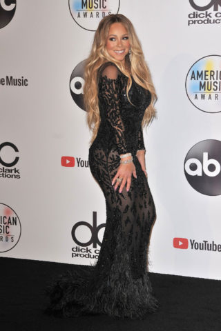 Mariah Carey at Press Room at 2018 American Music Awards in Los Angeles