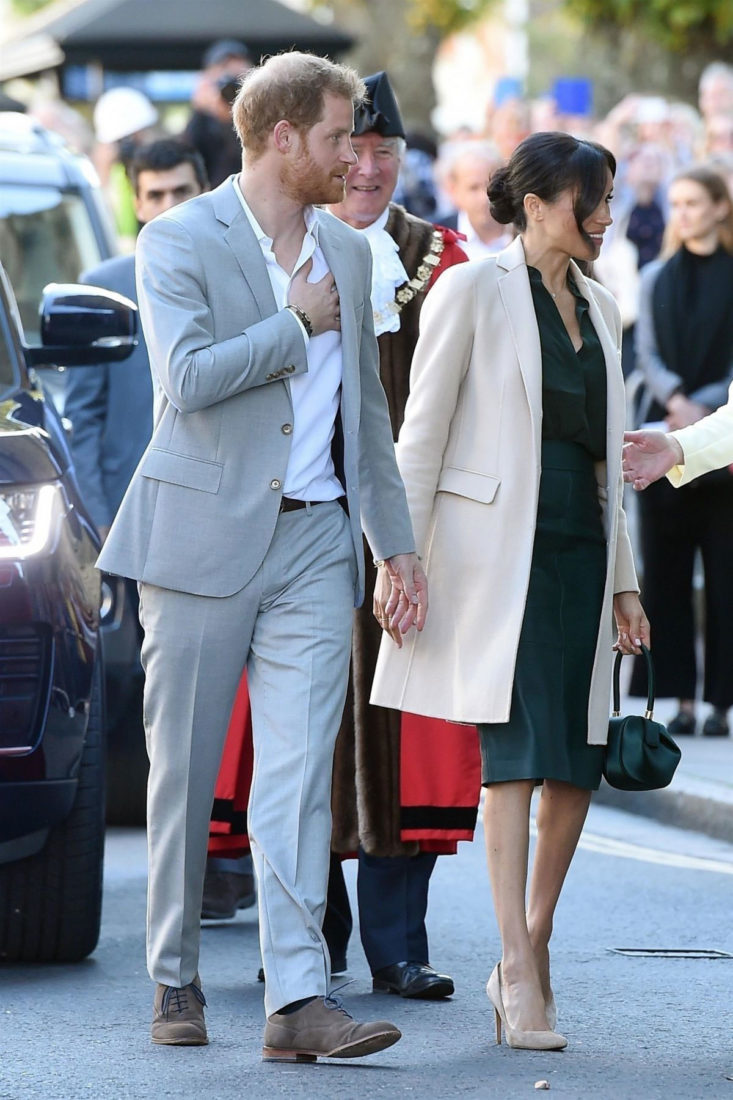 Meghan Markle and Prince Harry at Royal Pavilion in Brighton