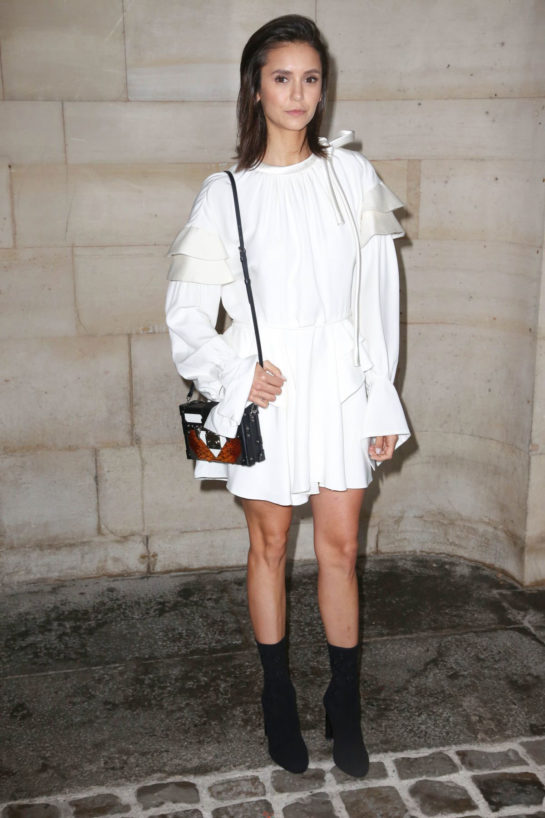 Nina Dobrev at Louis Vuitton show in Paris