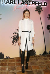 Olivia Palermo at Karl Lagerfeld x Kaia Collaboration Capsule Collection Presentation in Paris