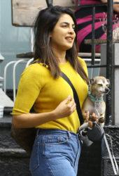 Priyanka Chopra with her dog Out in New York