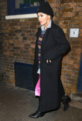 Rita Ora leaving the Royal Drury Lane Theatre in London