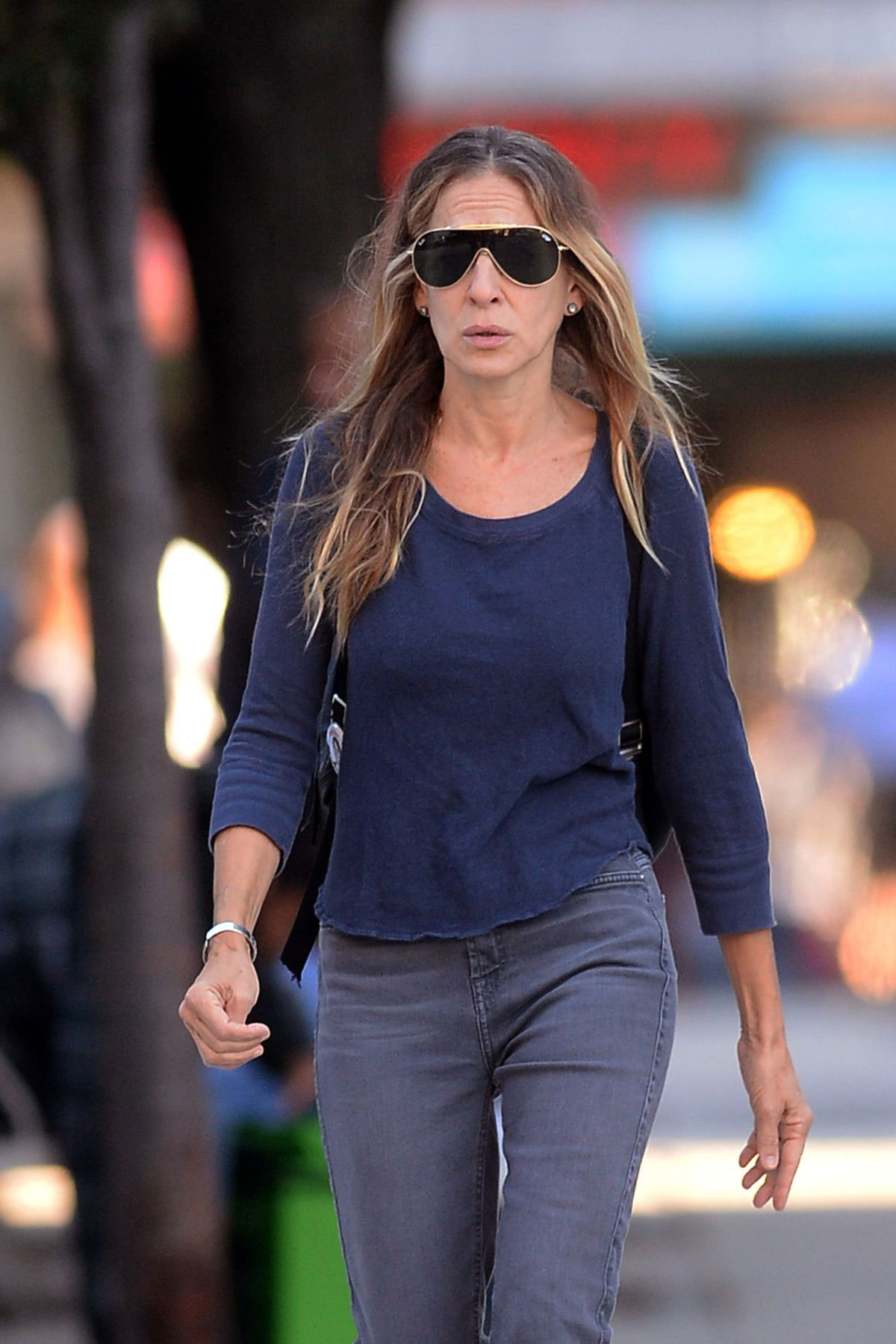 Sarah Jessica Parker steps out in New York wearing a multi
