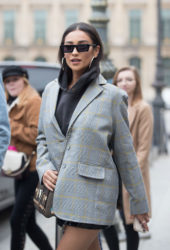 Shay Mitchell Leaving her hotel in Paris
