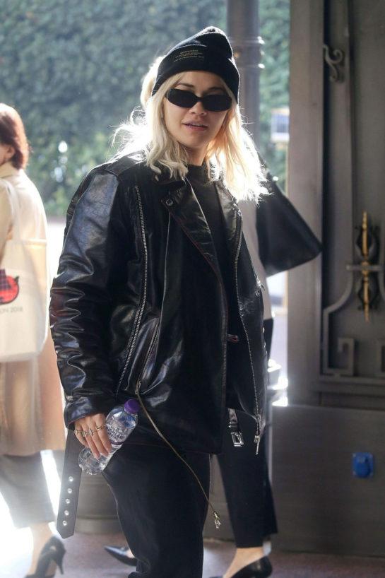 Street Style - Rita Ora arrives in Milan