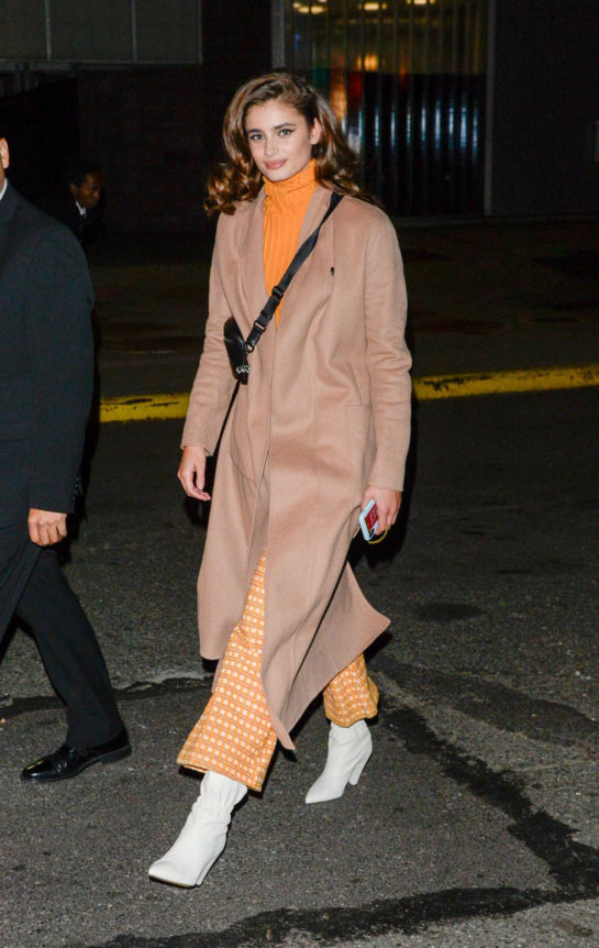Taylor Hill Arrives at a fashion show in New York