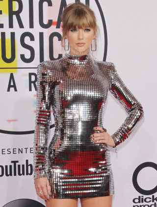 Taylor Swift at 2018 American Music Awards in Los Angeles