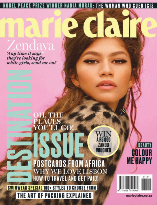 Zendaya in Marie Claire Magazine (South Africa November 2018)