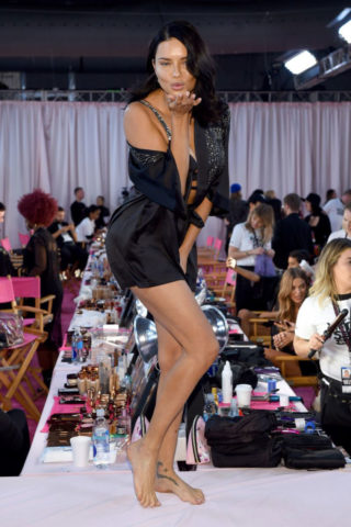 Adriana Lima on the Backstage of Victoria's Secret Fashion Show in New York