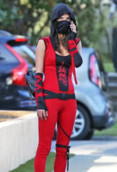 Alessandra Ambrosio Ready For Halloween Party in Santa Monica