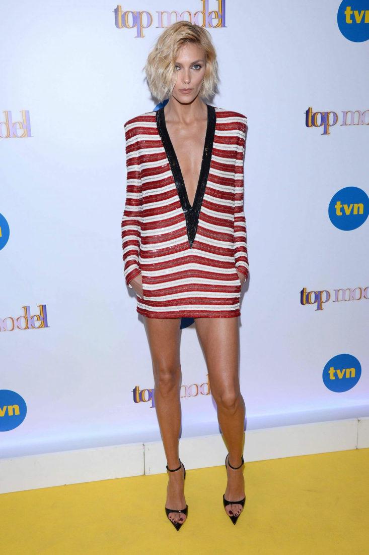Anja Rubik at Top Model Show in Warsaw
