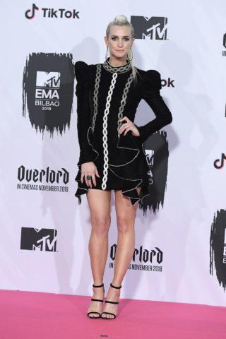 Ashlee Simpson at MTV EMA's 2018 in Bilbao