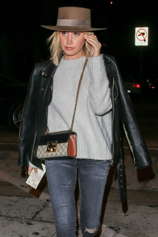Ashley Tisdale at Craig's Restaurant in West Hollywood
