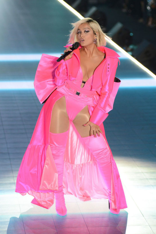 Bebe Rexha Performs at Victoria's Secret 2018 Show in New York