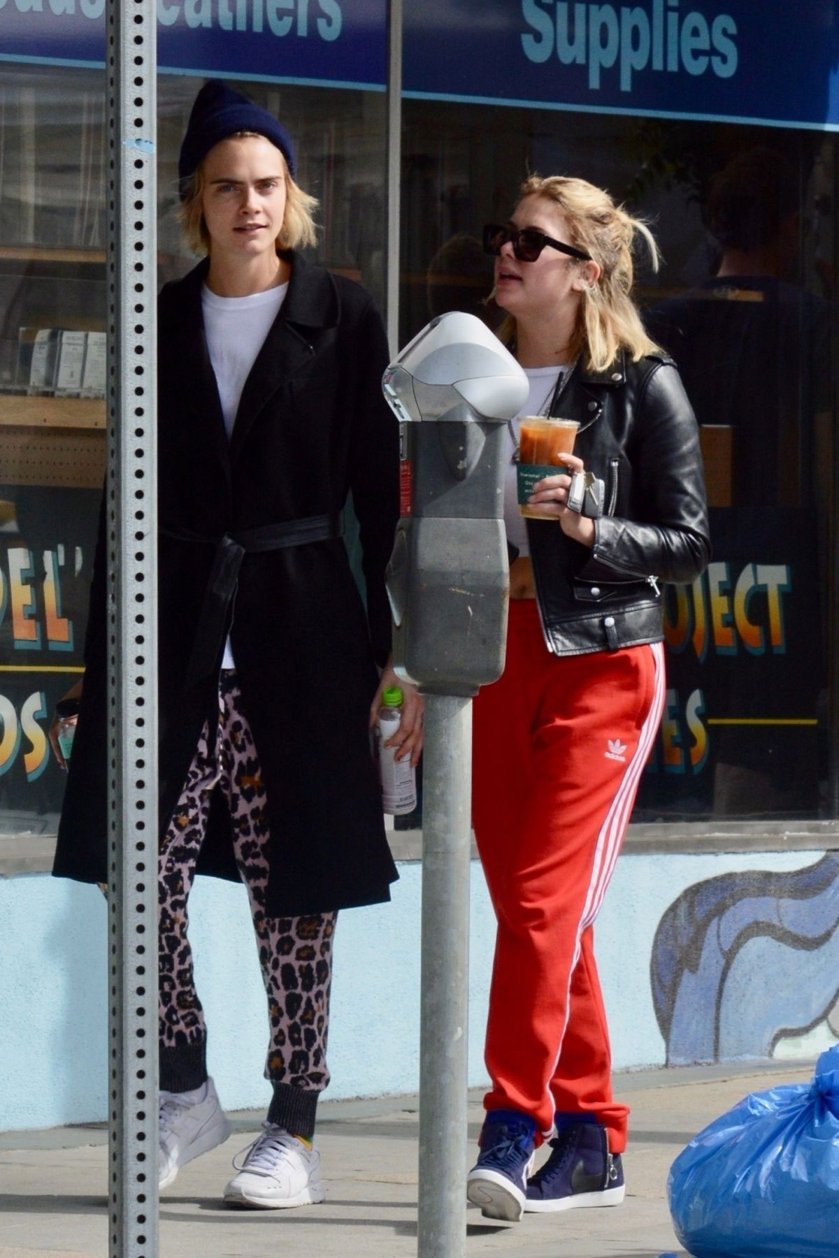 Street Style Cara Delevingne And Ashley Benson Out For Coffee In