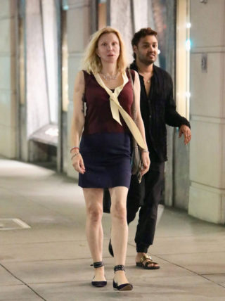 Courtney Love Leaves Gucci Store in Beverly Hills
