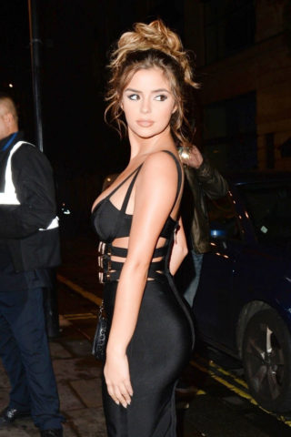 Demi Rose Mawby leaving Toy Room nightclub in London
