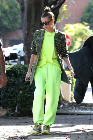 Hailey Baldwin leaves her stylists office in West Hollywood