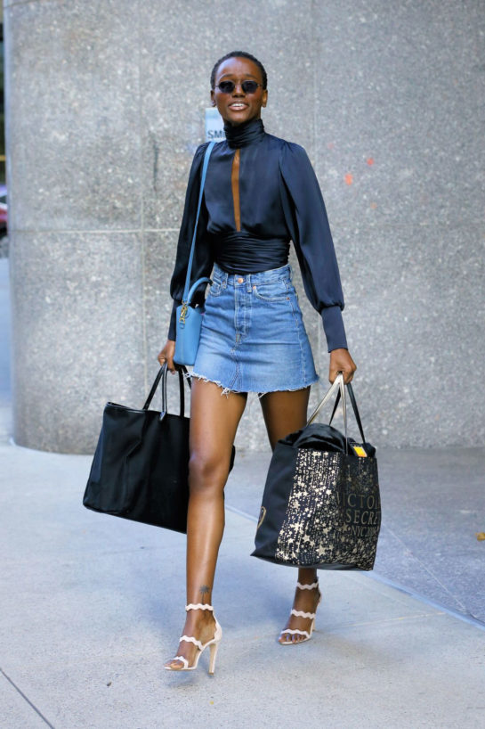 Herieth Paul at Victoria's Secret Fashion Show Fittings in New York