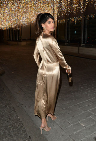 Jasmin Walia leaving Berkeley Hotel in London