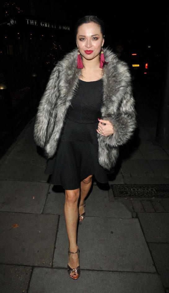 Katya Jones Night Out in London