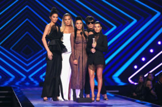 Kendall Jenner and Khloe, Kourtney and Kim Kardashian at People's Choice Awards 2018 in Santa Monica