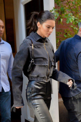 Kendall Jenner leaves Victoria's Secret Fashion Show in New York