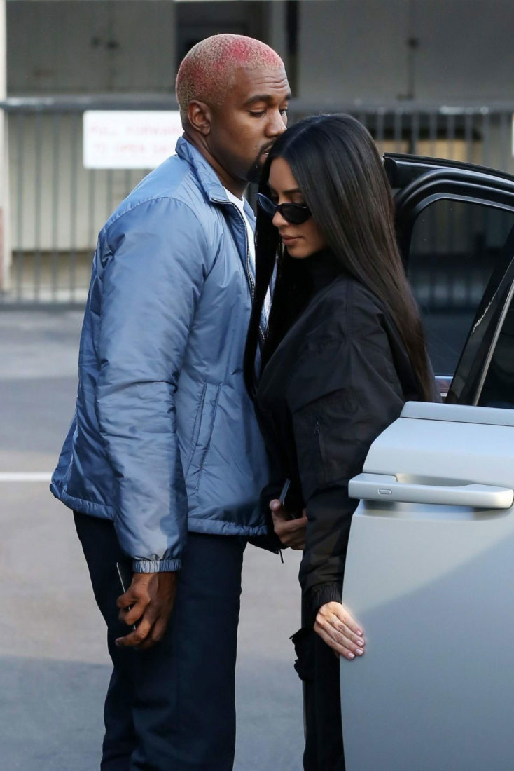 Kim Kardashian and Kanye West Out in Los Angeles