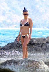 Kourtney Kardashian in Bikini on the Beach in Bali