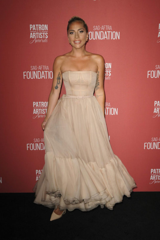 Lady Gaga at Patron of the Artist Awards in Los Angeles