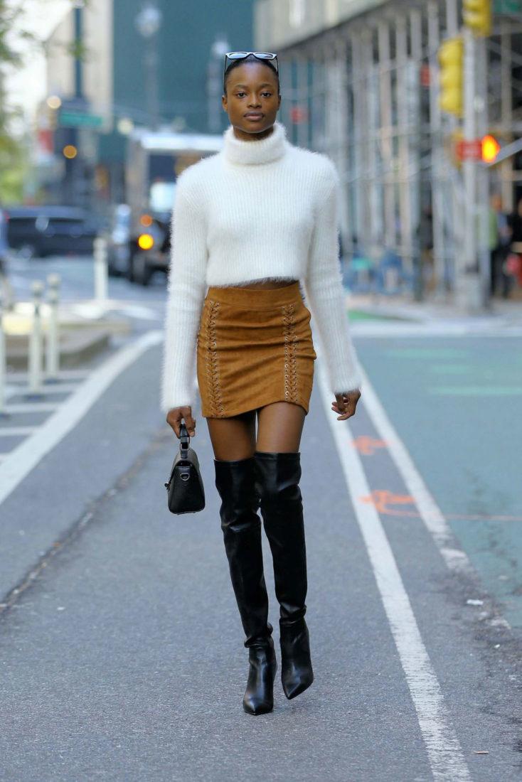 Mayowa Nicholas at Victoria's Secret Show Fittings in New York