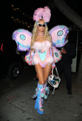Paris Hilton at Mathew Morrison's Halloween Party in West Hollywood