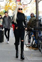 Rita Ora All in Black Out in New York