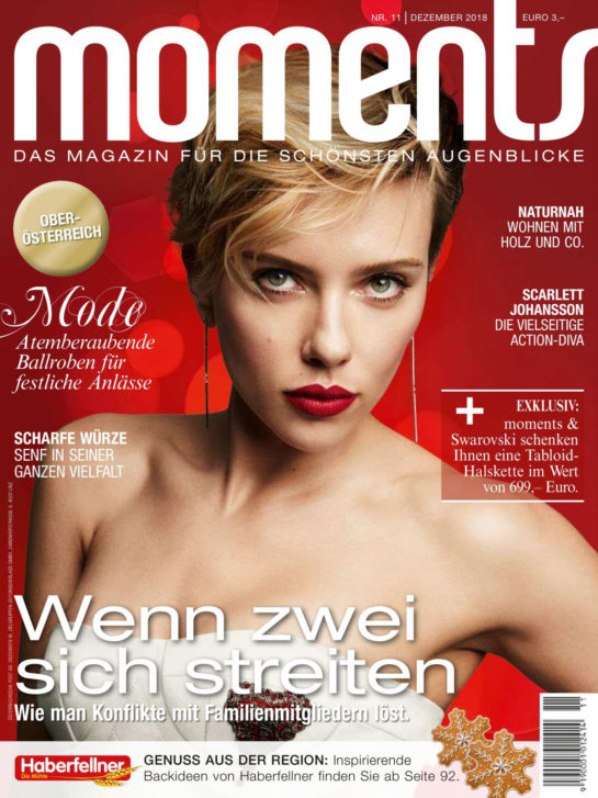 Scarlett Johansson in Moments Magazine (November 2018)