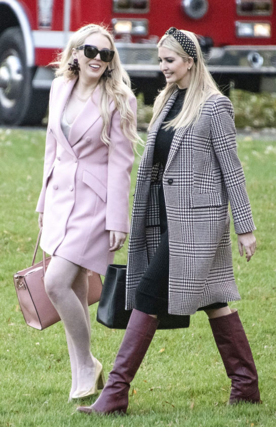 Tiffany Trump and Ivanka Trump in Rose Garden of White House in Washington, D.C.