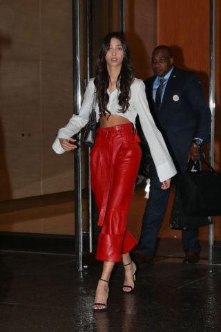 Yasmin Wijnaldum at Victoria's Secret Fashion Show Fittings in New York