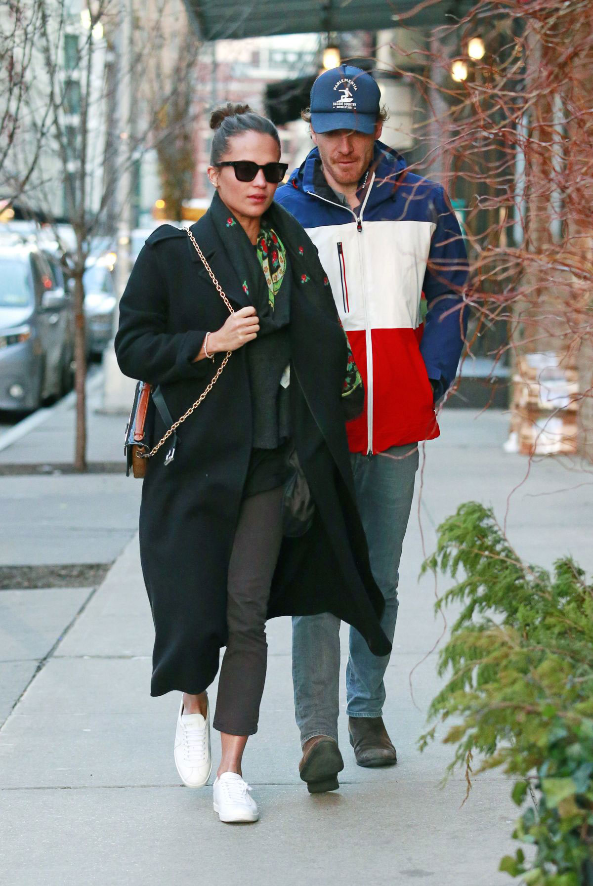 Street Style Alicia Vikander And Michael Fassbender In New York City Justfabzz