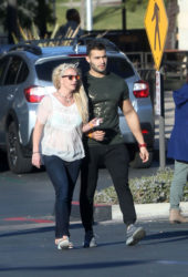 Britney Spears and Sam Asghari Out in Calabasas