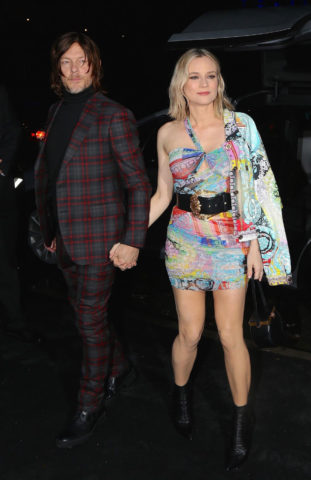 Diane Kruger and Norman Reedus arrives at Versace Fashion Show in New York
