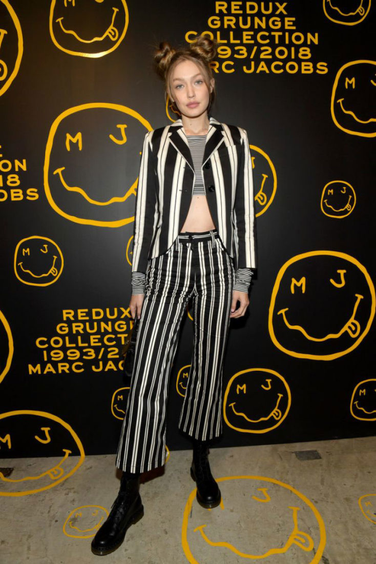 Gigi Hadid The Marc Jacobs Redux Grunge Collection and the opening of Marc Jacobs Madison