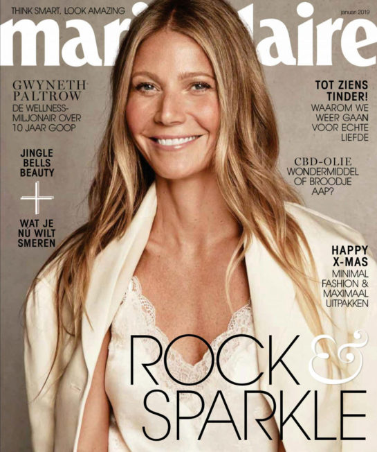Gwyneth Paltrow in Marie Claire Magazine (Netherlands January 2019)