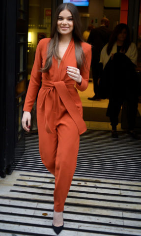Hailee Steinfeld leaving BBC Studios in London
