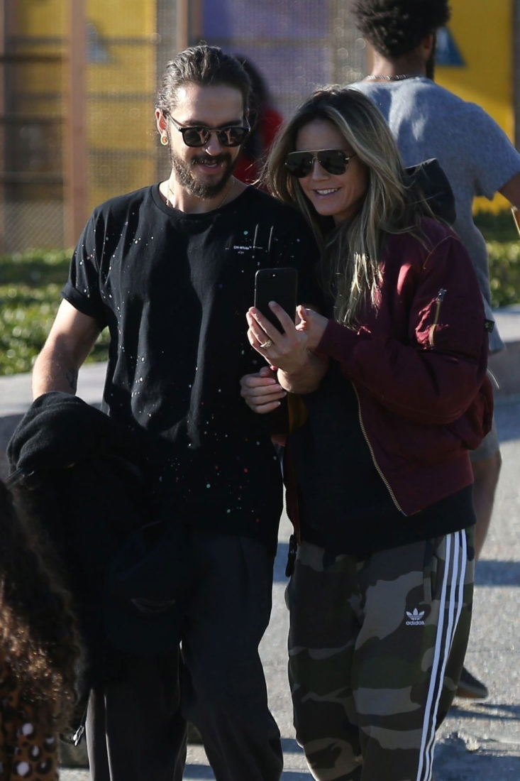 Heidi Klum and Tom Kaulitz Out with Their Dog in Santa Monica