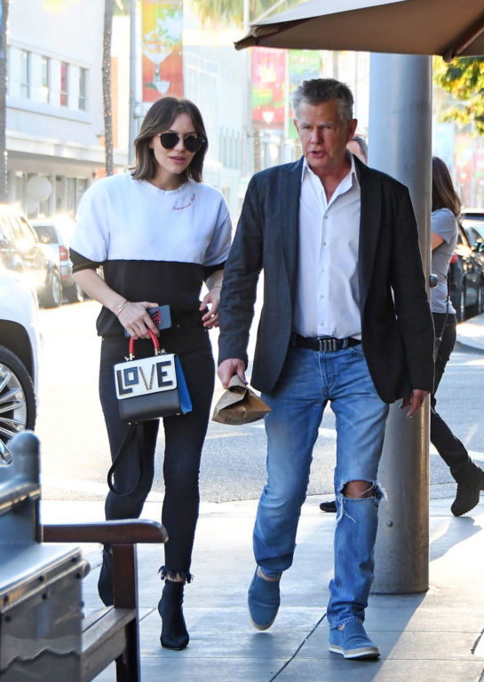 Katharine Mcphee and David Foster Leaves Il Pastaio Restaurant in Beverly Hills