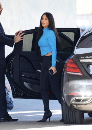 Kim Kardashian arriving for the Keeping Up With The Kardashians taping in Sherman Oaks