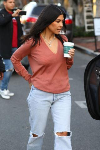 Kourtney Kardashian Out for Coffee in West Hollywood