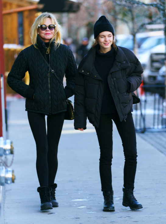Melanie Griffith and Stella Banderas Out in Aspen