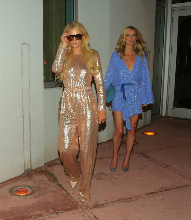 Paris Hilton and Nicky Hilton Night Out in Miami