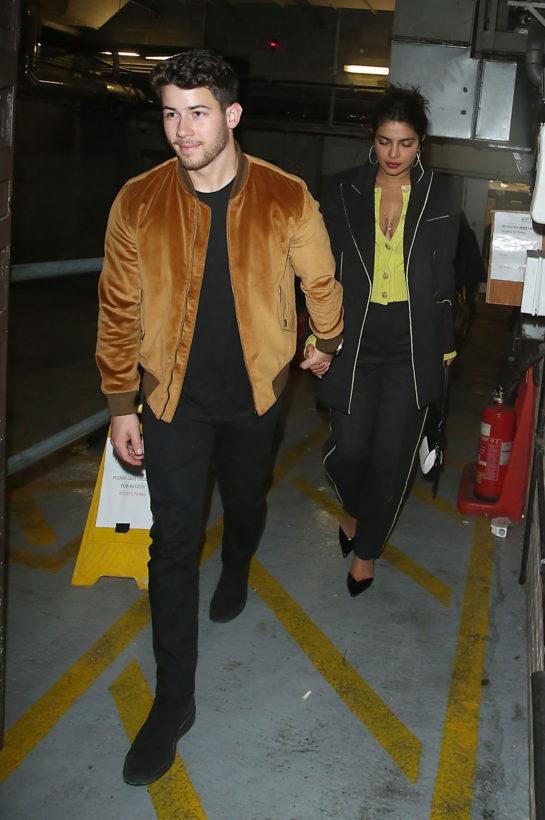 Priyanka Chopra and Nick Jonas at the Delaunay restaurant in London
