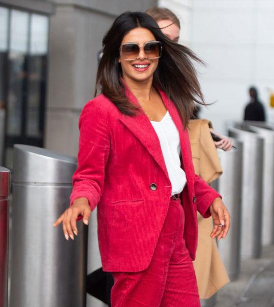 Priyanka Chopra at John F Kennedy International Airport in New York